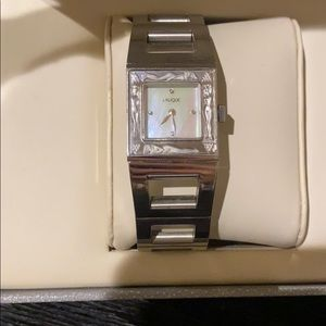 Lalique Bacchantes Stainless Watch with Pearl Face